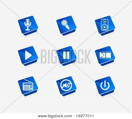 Vector Media Icon Set
