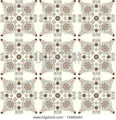 Flower Pattern Seamless Texture