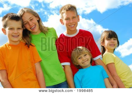 Five Happy Children
