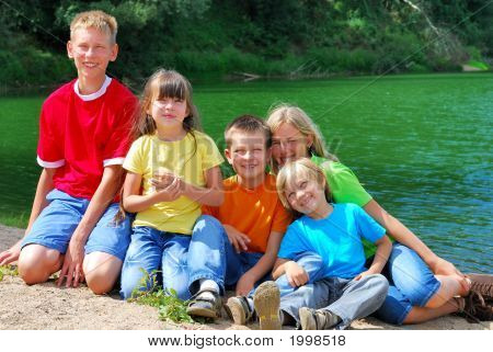 Children By The Lake