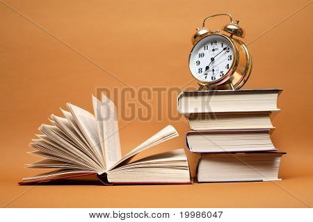 Alarm Clock And Books
