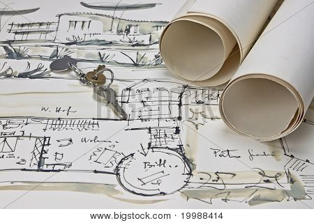 The Blueprint Of A House