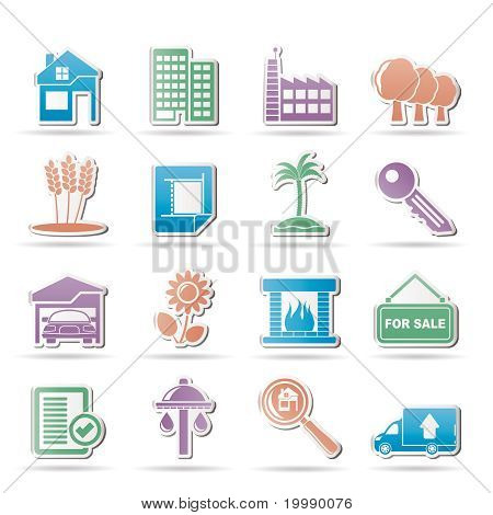 Real Estate and building icons