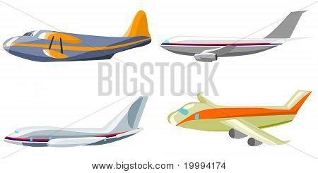 Flugzeuge-Vektor
