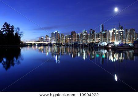 Vancouver Skyline Twilight