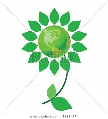 Green earth flower