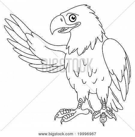 Outlined Eagle