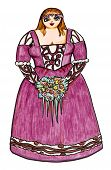 picture of wench  - Illustration of a beautiful voluptuous renaissance woman - JPG