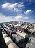picture of chug  - Railroad cars on a railway station - JPG