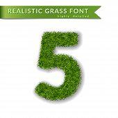 Green Grass Number poster