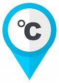 Celsius blue pointer icon poster