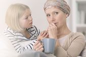 Cancer Woman Supporting By Daughter poster