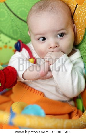 Baby Boy Sucks Fingers