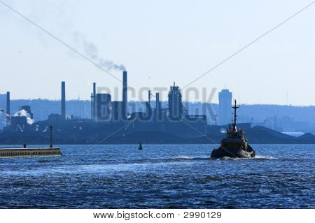 Tugboat In Harbor