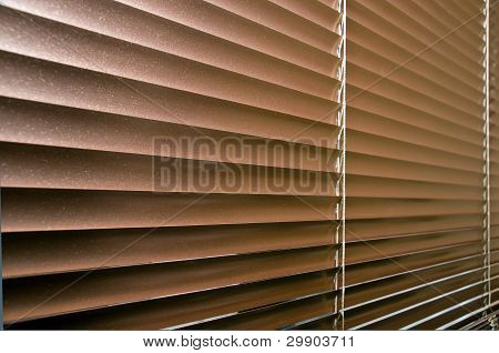 Aluminium Colorized Blinds On Plastik Window