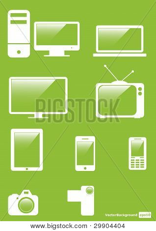 Icons Set For Web Applications, Internet & Website Icons. Vector