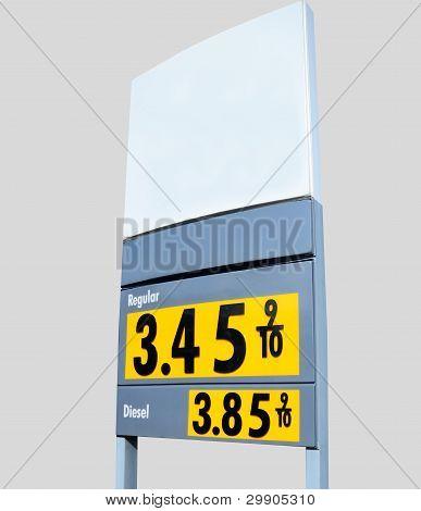 Gasoline Price Sign