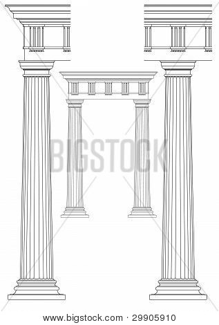set of architectural elements