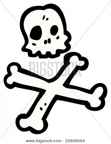skull and crossbones cartoon