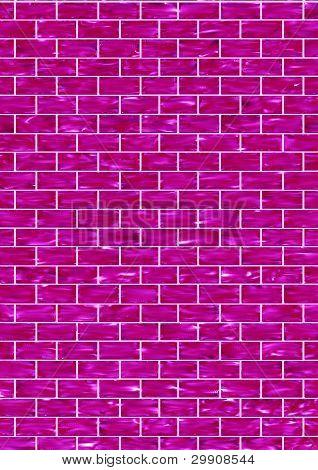 Purple Glass Brick Wall