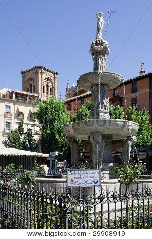Plaza in Granada Spain