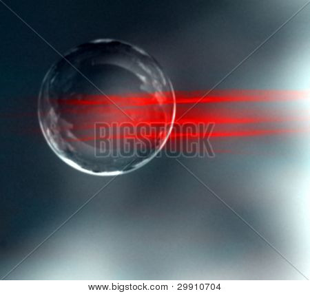 Flying Ball (photomontage)