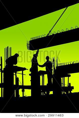 team work, workers at a construction site