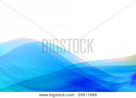 blue waves illustration no: 1