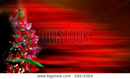 christmas tree with copyspace