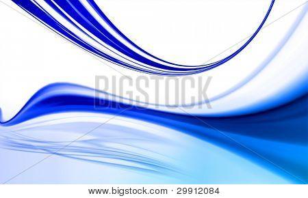 dynamische blauen Wellen-Design mit kühle Brise