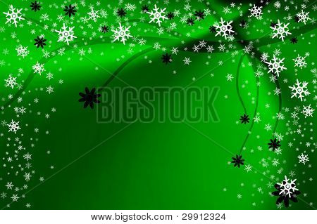 christmas and winter foliage background; good for a greeting card