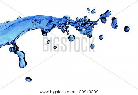 water splash isolated; (macro water series B)