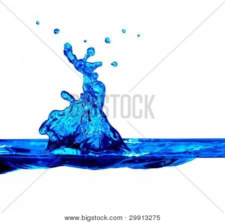 isolated macro water splash (water series B)