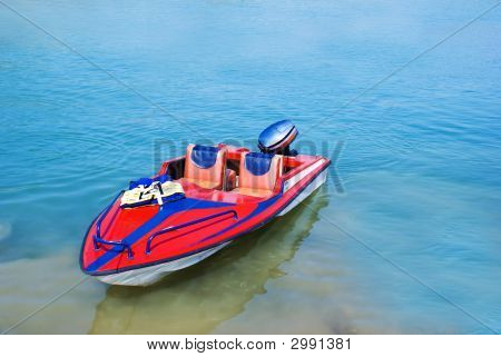 Red Sports Boat