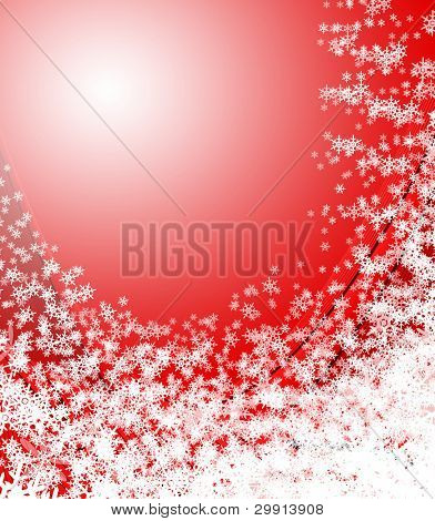 Falling snow; winter & christmas theme