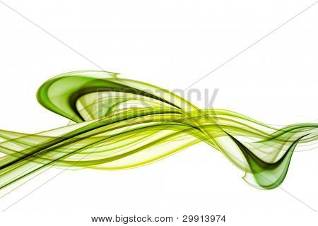 green abstract waves & curves background, free modern style