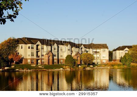 Apartment Building Complex on the Lake