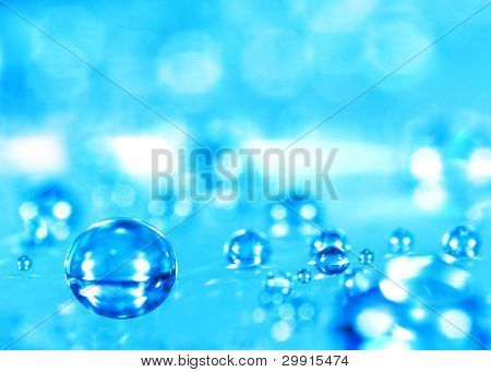 macro of water drop (shallow DOF); water series E