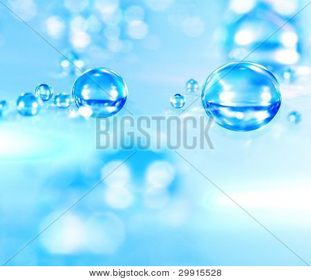 macro of water drops (shallow DOF); water series E