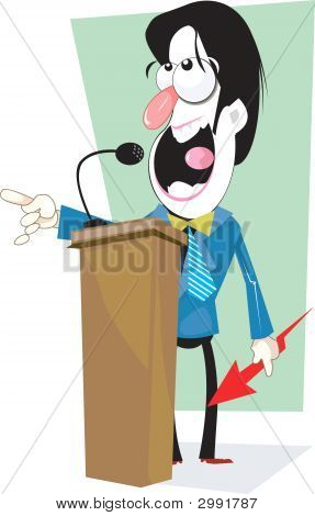 Man Delivering Lecture