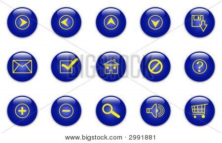 Blaue Web Icons