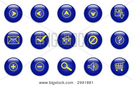Iconos de la Web azul