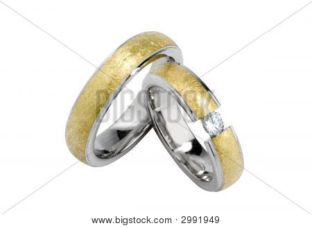 A Pair Of Wedding-Rings - Isolated