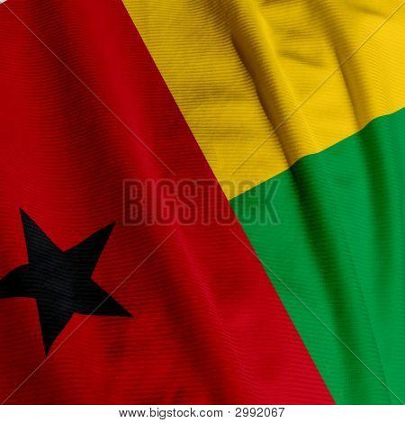 Guinea-Bissau Flag Closeup