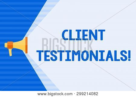 poster of Conceptual Hand Writing Showing Client Testimonials. Business Photo Text Written Recommendation From