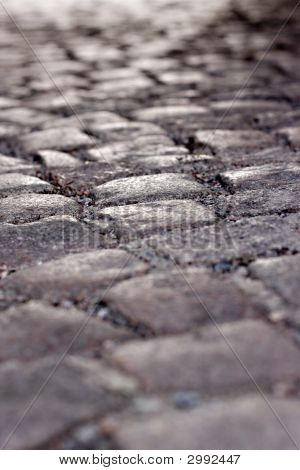 Cobblestone With Shallow Dof Background