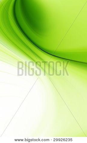 abstrakt grün Kurven
