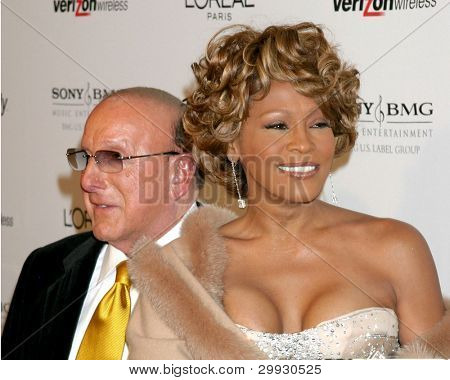 LOS ANGELES - FEB 10:  Clive Davis, Whitney Houston arrives at the Clive Davis Annual Pre-Grammy Party at Beverly Hilton Hotel on February 10, 2007 in Beverly Hills, CA