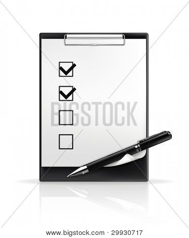 Pen and check boxes, vector