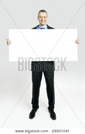 A handsome business man with a white background
